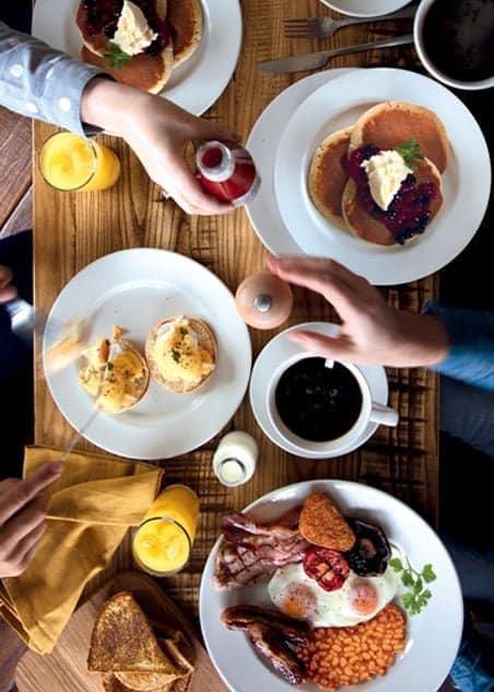 Ember Inn - Breakfast menu