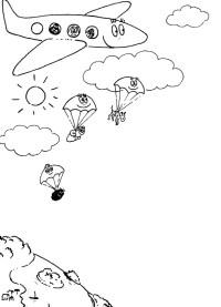 Barbapapa Paracadute da stampare e colorare