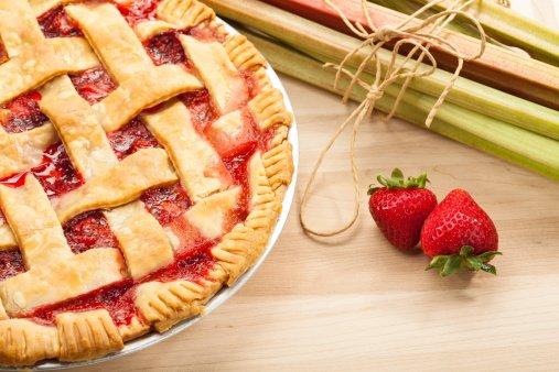Strawberry Rhubarb Pie Day