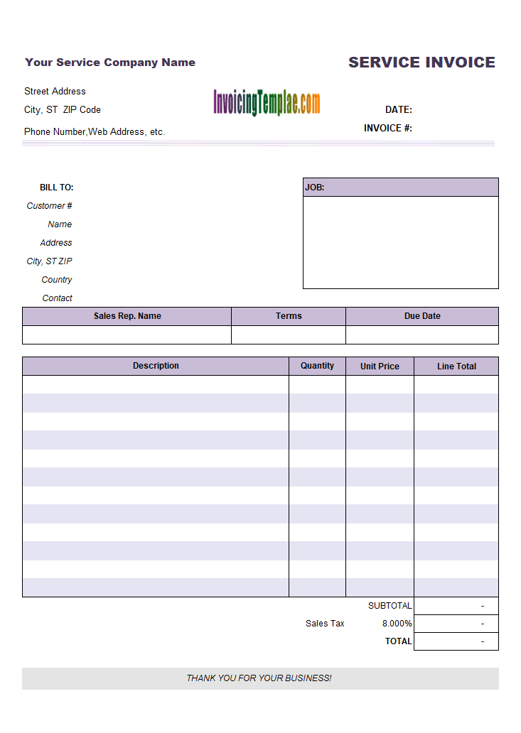 22/03/2020· bill to and ship: General Service Invoice