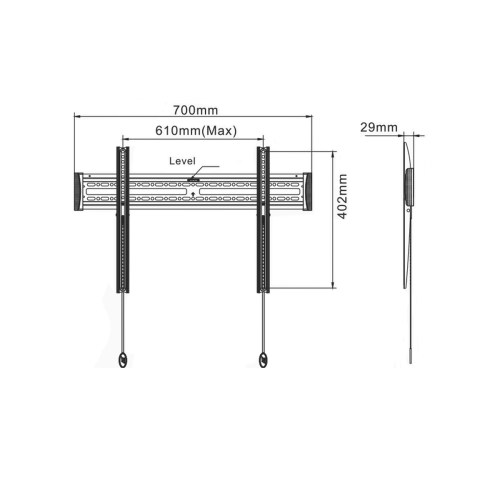 small resolution of  tv and pv diagrams universal wmf 4065 fixed tv mount for 40 to