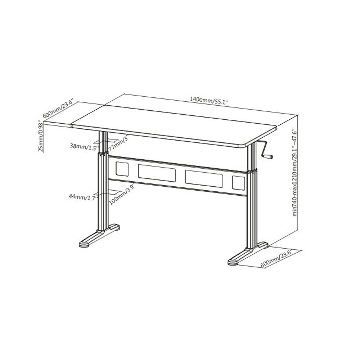 Floor Standing FS-OD55C Manual Crank Height Adjustable
