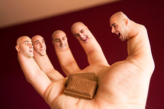 I Love Chocolate, Bizarre Photo Manipulation of Self Portrait