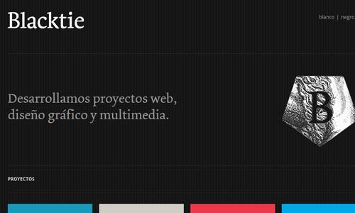 blacktie in 30 Excellent Black Website Designs for Inspiration