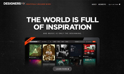 designersmx in 30 Excellent Black Website Designs for Inspiration