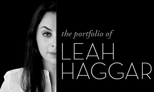leah hagger in 30 Excellent Black Website Designs for Inspiration