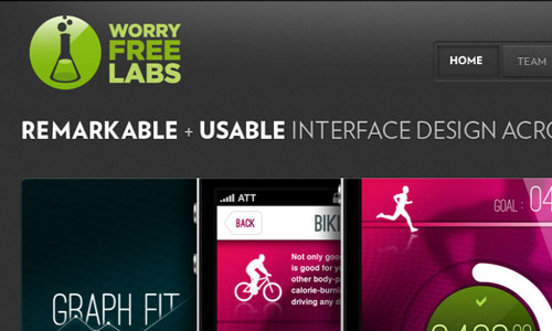 worryfree labs in 30 Excellent Black Website Designs for Inspiration