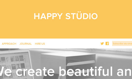 Happy Studio - Minimal Sites