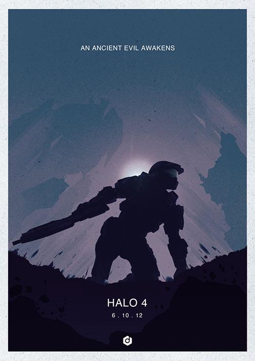 Halo 4 - Minimalist Poster