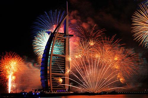 Fireworks at Burj-Al-Arab