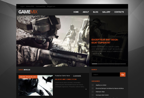 Gamemix Blogger Template