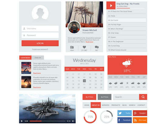 Red UI Kit