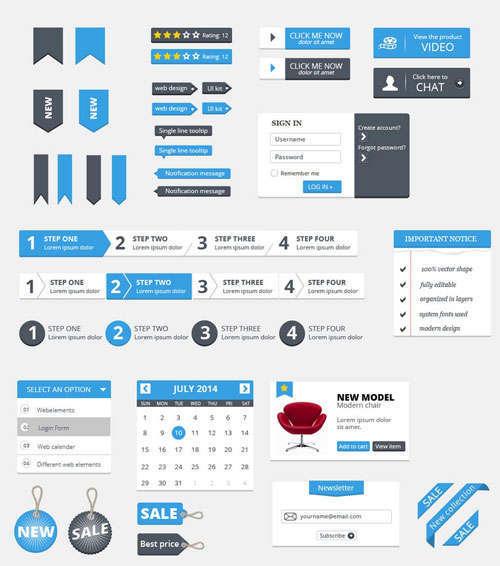 Free Clean UI Kit