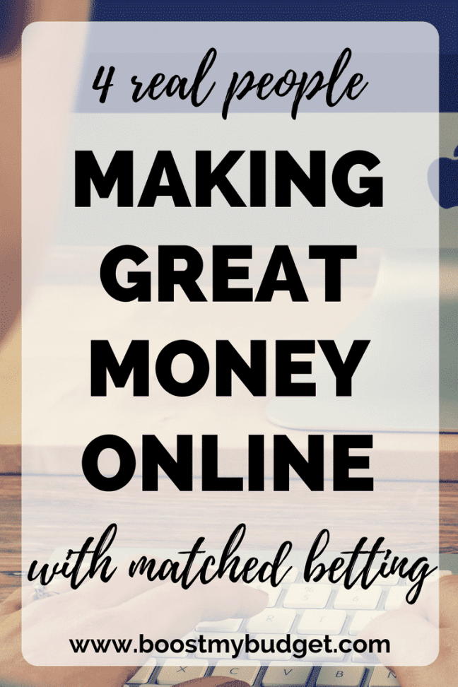 Matched betting is a great way to make money online! Loads of people are making an extra income online. In this post, 4 real people making great money with matched betting share their experiences.