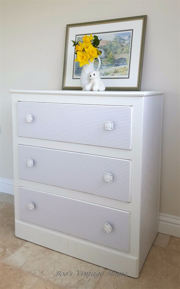 3 drawer chest of drawers decoupage