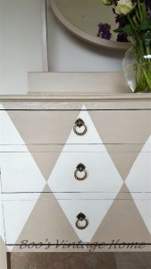 vintage chest of drawers foxed mirror