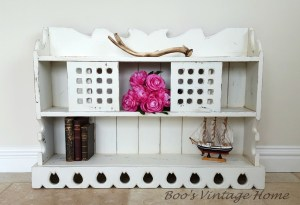 rustic hanging shelves white