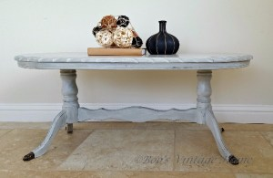 vintage oval coffee table