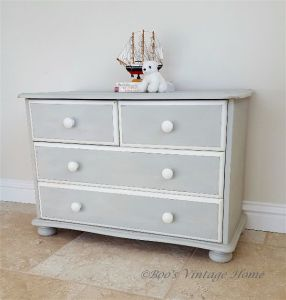 grey pine chest of drawers