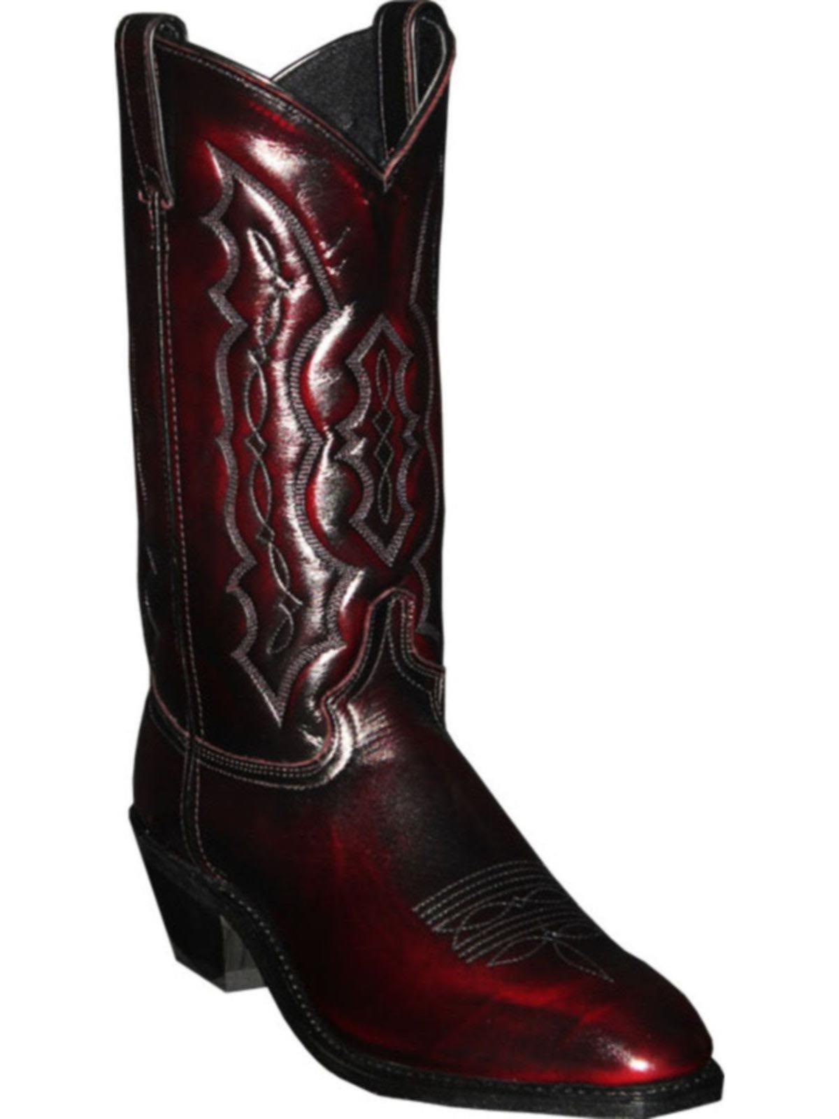 BootAmerica  Abilene Mens 12 Black Cherry Cowboy Boot 6469