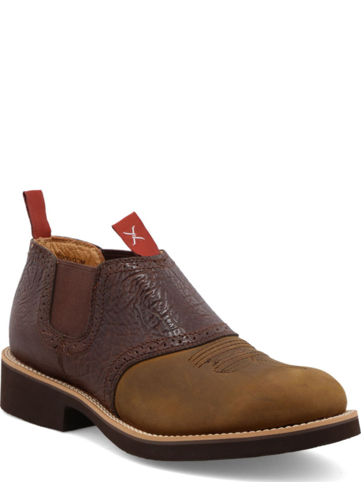 BootAmerica  Twisted X Mens Cowdog Shoe Distressed Saddle