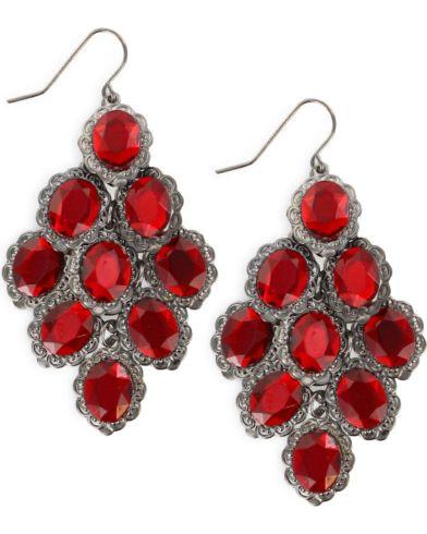 Shyanne Women S Red Chandelier Earrings Hi Res