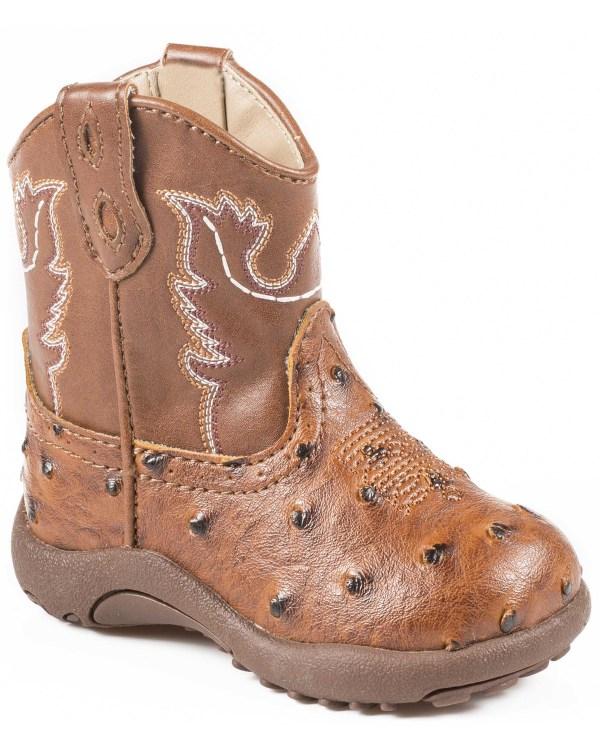 Roper Infant Boys' Ostrich Print Cowbabies Boots Boot Barn