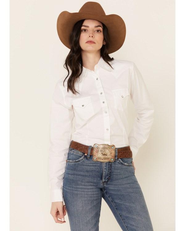 Wrangler White Rhinestone Snap Western Shirt Boot Barn