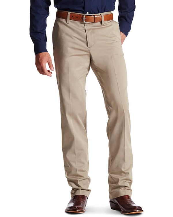 Ariat Men' M2 Performance Khaki Relaxed Fit Pants - Boot