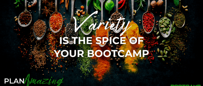 array of spices with the text variety is the spice of your bootcamp