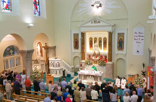 mass being celebrated at Booterstown parish