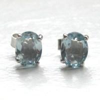 Aquamarine Stud Earrings | Aquamarine Jewellery