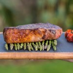 Rustic asparagus and sirloin steak - private chef menu