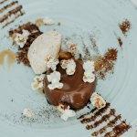 Gourmet chocolate pannacotta