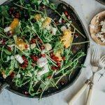 Butternut, feta and pomegranate salad