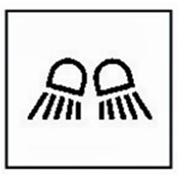Schaltwippen mit beleuchtetetem Symbol