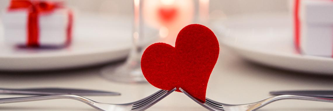 Romantisches Dinner am Valentinstag in Mannheim