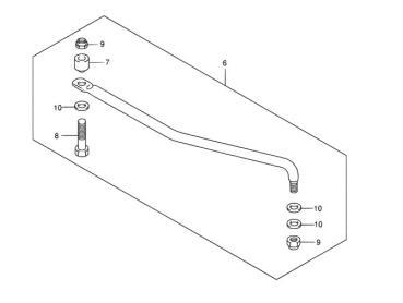 Fernschaltumrüstsatz für Suzuki DF9,9/DF15 (2005-2011