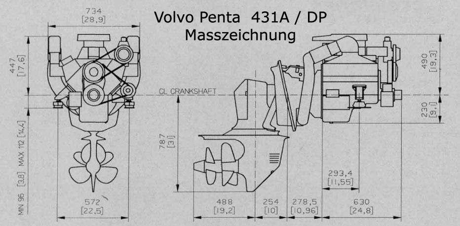 Tausch eines Volvo Penta 131 gegen stärkere Maschine