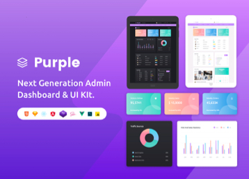 admin templates Purple