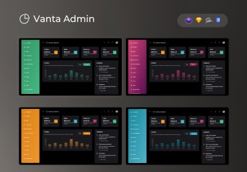 admin template vanta admin dashboard