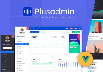 vue admin template plus