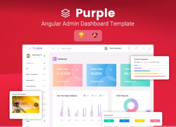 angular 2 admin template purple angular
