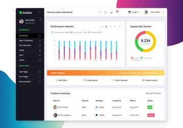 react admin dashboard stellar react free