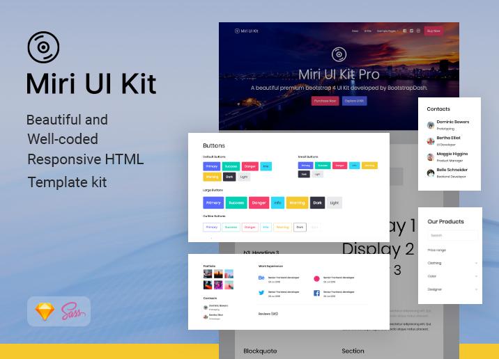 کیت رابط کاربری Miri UI Bootstrap