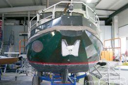 Refit einer St. Jozef Vlet Motoryacht in der Werfthalle der Bootswerft Baumgart in Dortmund