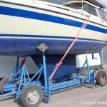 Reparatur einer LM 28 Segelyacht