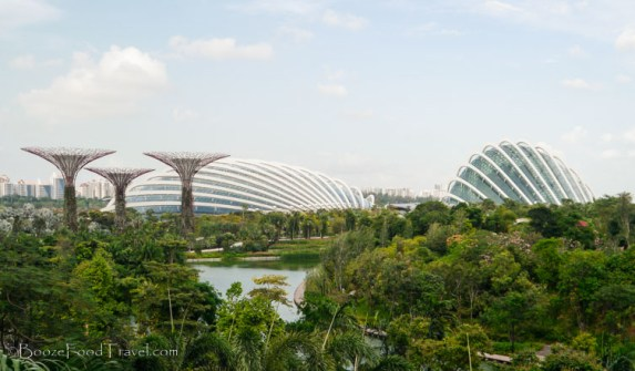 The biospheres from the back of the Marina Bay Sands