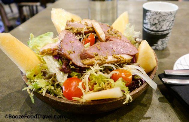 smoked duck salad