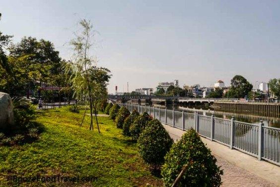 Saigon riverside walk